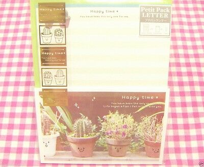 World Craft / Happy Time Cactus Letter Set / Made in Japan Stationery