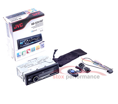 JVC KD-X341BT Bluetooth iPhone USB AUX Car Stereo Radio Headunit FLAC No CD NEW