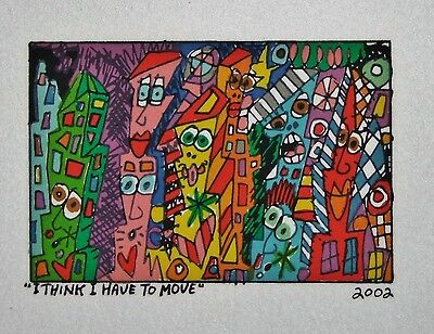 James Rizzi I Think I Have To Move- Farblithografie