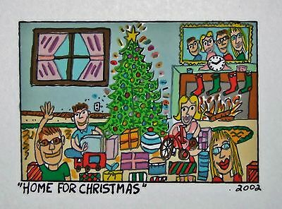 James Rizzi Home for Christmas- Farblithografie