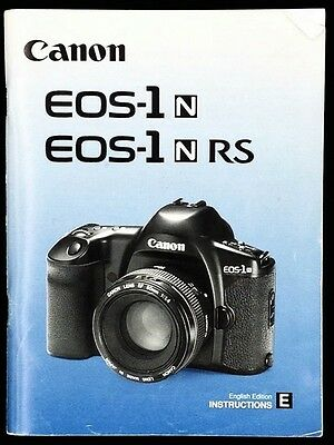 Canon EOS 1 N , EOS 1 N RS Instructions manual User guide