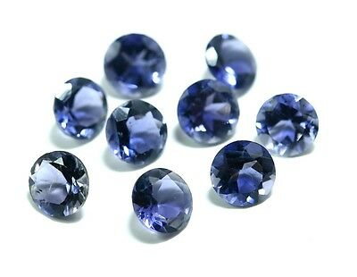 Blue Natural Iolite AAA Quality 2.5 mm Round 50 pcs Loose gemstone