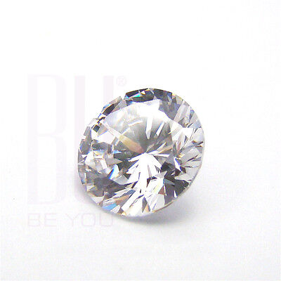 White Cubic Zirconia AAA Quality 7 mm Star Cut Round 25 pcs loose gemstone