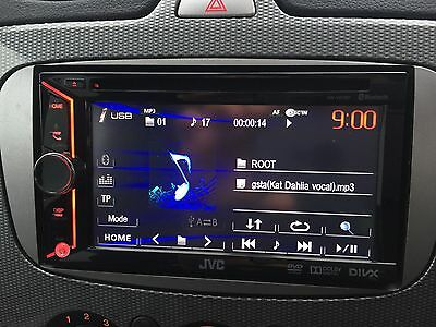 JVC KW-V20BT Double Din Car CD DVD Bluetooth USB Aux In iPod iPhone