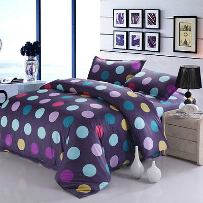 Colorful Dots Single Double Queen King Nice Bed Set Pillowcases Duvet/Quilt Cove