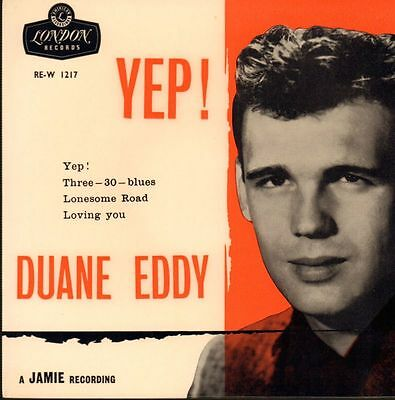 "Duane Eddy(2nd State 7"" Vinyl)Yep EP-London-RE-W 1217-UK-1960-VG/Ex"