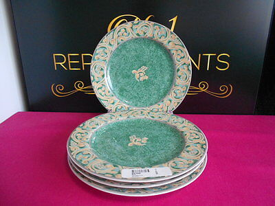 "4 x BHS Valencia Accent 8"" Salad Plates"