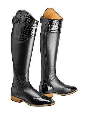 *SALE* Caldene Amarante Croc Long Riding Boots - Black - RRP £285.00