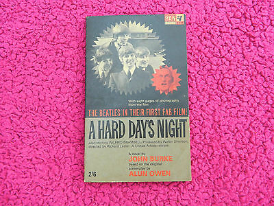 The Beatles 1964 Official A Hard Day's Night Movie Film Book With Photographs