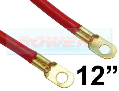 "12"" INCH 300mm CAR BATTERY RED POSITIVE STARTER LEAD CABLE WIRE STRAP"