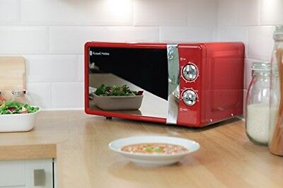 New Russell Hobbs Manual Red Microwave Oven 17 L 700 W RHMM701R 5 Power Levels
