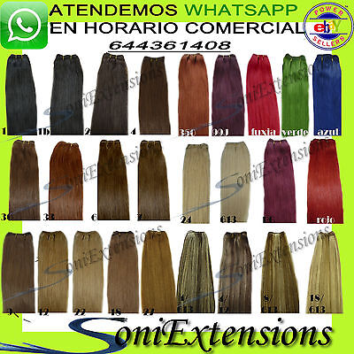 Extensiones Lisa Cortina / Manta/cabello Cosido 100Gr +Clips O Anillas De Regalo