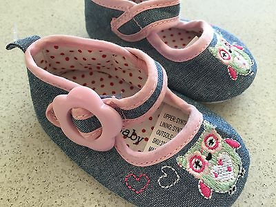Baby Girls 'baby Baby' Owl Pre-Walker (Soft Sole) Shoes, 0-3 Months, Bnwots