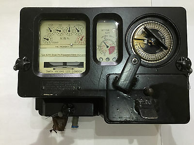 Vintage £1 Pound Coin Operated Electricity Meter