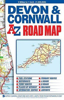 Devon & Cornwall Road by Geographers' A-Z Map Company New Sheet map  folded Book
