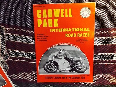 1978 Cadwell Park Programme 17/9/78 - International Road Races - Barry Sheene