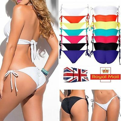 a75c45fd6a3 UK Fashion Ladies Brazilian Bikini Swimsuit Swimwear Bathing Push Up  Bottoms AM
