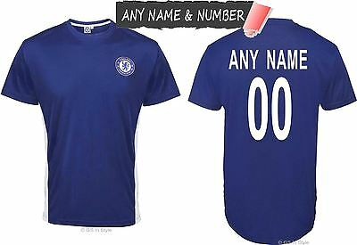 Personalised Kids Chelsea Fc 100% Official Football T Shirt Genuine Top Any Name