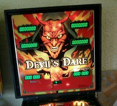 "Flipper ""Devil's Dare""- Pinball Machine Backglas - D.Gottlieb & Co U.S.A."