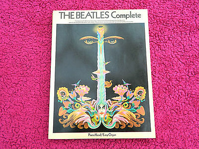 THE BEATLES COMPLETE PIANO VOCAL / ORGAN SHEET MUSIC BOOK EARLY 70's