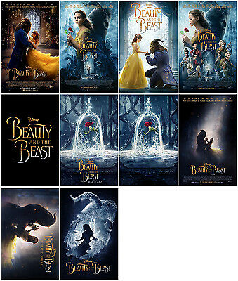 10pc Beauty and the Beast Movie 2017 Promo Card PVC Transparent CARD B