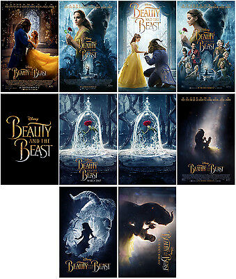 10pc Beauty and the Beast Movie 2017 Promo Cards Photo Card Card Stickers B