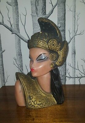 1950s Balinese lady bust, Tretchikoff mid century retro