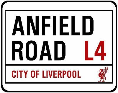 Liverpool F.c. Street Sign On Mouse Mat / Pad. Anfield Road