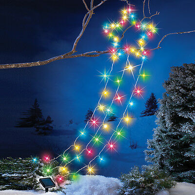 Solar Color Changing Northern Shooting Star Outdoor Christmas Yard Decoration