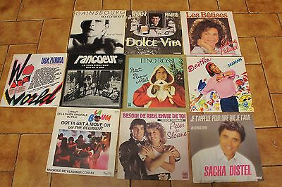 Lot De 10 Vinyles  45 Tours