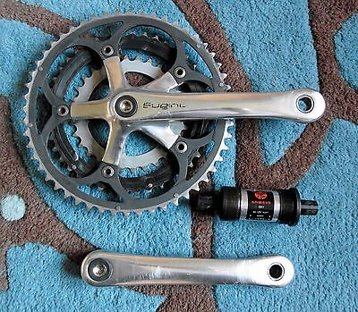 Nice Used Sugino Triple Chainset Complete With Bottom Bracket