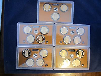 2011 2013 2014 2015 2016 President One Dollar 4 Coin Set Deep Cameo Mirror Proof