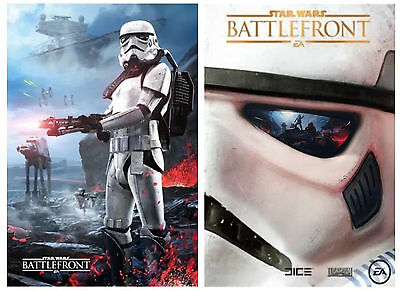 Star Wars Battlefront Double-Sided Poster Gamestop Exclusive Force Awakens