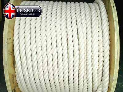 16MM Natural100% CottonTwisted SASH Cord Scratch fishermen twine Acrobatics Rope