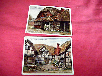 """2 Large Cards From Players """"picturesque Cottages""""  1929"""