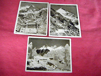 """ii) 3 LARGE CARDS FROM PLAYERS """"MOUNT EVEREST""""  1925"""