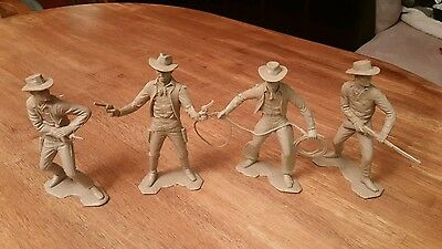 Vintage Lot of 4 Louis Marx Sherrif Figures