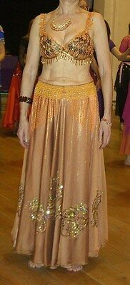 Belly Dance 3pc costume skirt, top and hip scarf