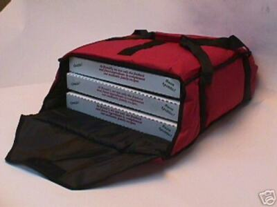 """AB216 Fits 4 or 5 16"""" Pizzas, Case of 10 bags  BLACK"""