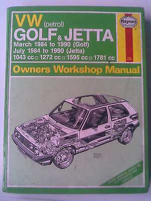 VW GOLF & JETTA  Haynes owners workshop manual