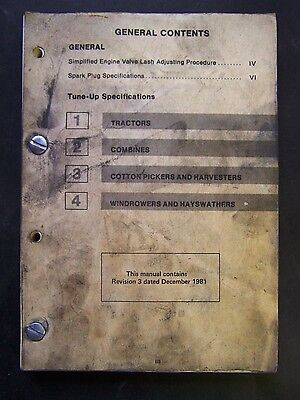 International Harvester Tractors-Combines-More Tune Up Specification Manual