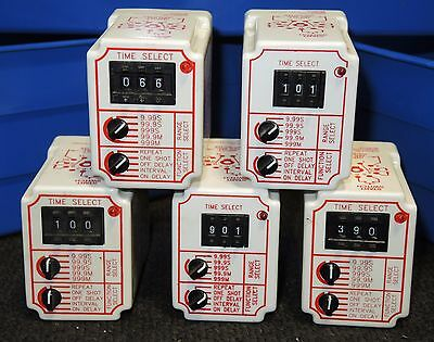 Dayton Solid State Time Delay Relay 6A855 Interval Delay Model .01-999 Minutes
