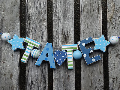 """tate"" Wooden Door Sign Plaque Baby Shower Nursery Decor Name Personalized"