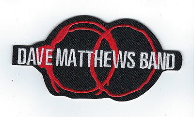 """Dave Matthews Band Rock Patch 4-1/8"""" Long New Black Iron On Embroidered"""