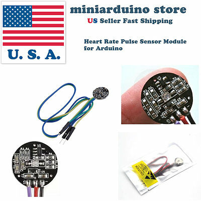 Pulse Sensor Heart Rate Sensor PulseSensor for Arduino Module Raspberry pi USA