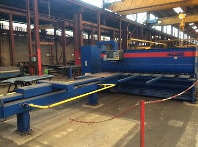 Lvd cnc guillotine with non ferrous sheet support