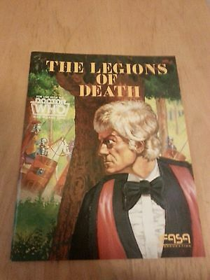 Doctor Who Role Playing book The Legions of death in mint condition rare