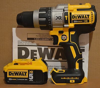 "DeWALT DCD996 20V MAX Li-Ion Brushless 1/2"" Hammer Drill + DCB205 5Ah Battery"