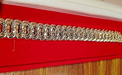 bracelet maille americaine or 18 carats 750 °/°° , NEUF, 18,30 grs