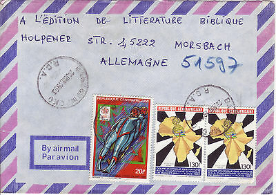 REP. CENTRAFRICAINE Rep. Zentralafrika Luftpostbrief Air Mail cover 1993